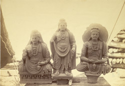 Group of statues of Buddhas and Bodhisattvas excavated at Lorian Tangai, Peshawar District 10031046